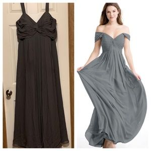 Azazie Kaitlynn Steel Grey Formal Bridesmaid Dress